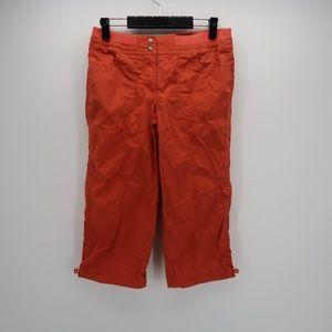 Chico's Orange Cropped Casual Capri Pants Size 0